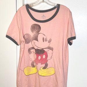 Disney Parks Peach Mickey Mouse Tshirt XL